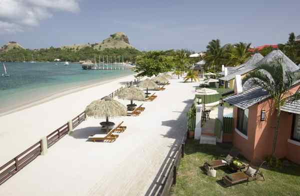 Sandals´ all-inclusive Grande St. Lucian Spa & Resort. Guests also can enjoy amenities at two other Sandals resorts on St. Lucia for no additional charge. Some find that a welcome relief from the nickel-and-dime environment common on cruise ships.