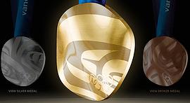 2010 Vancouver Olympic Medals (Photo courtesy Royal Canadian Mint)