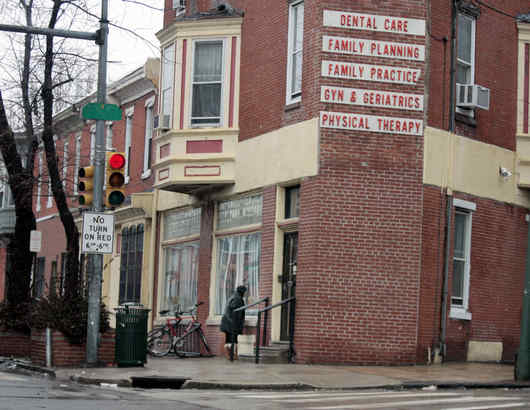 The clinic at 3801 Lancaster Ave. that is owned and run by Kermit B. Gosnell. The state Board of Medicine has suspended Gosnell´s license after a raid on the clinic last week by drug agents.