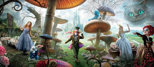 Director Tim Burton and writer Linda Woolverton take liberties with Lewis Carroll in their adaptation.