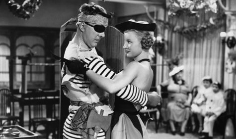 "Director Jacques Tati, with Nathalie Pascaud, stars in the title role of""Mr. Hulot´s Holiday,"" a 1953 comedy."
