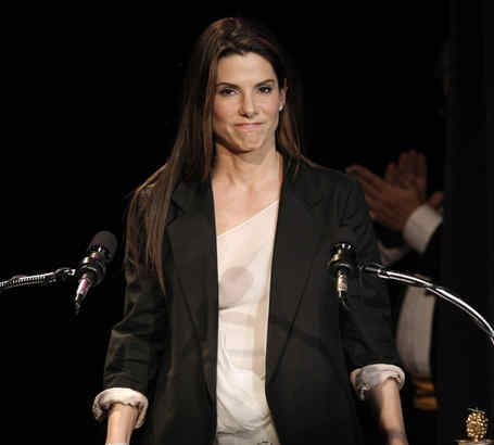 """Quite a year for Sandra Bullock: Best and worst actress honors for, respectively, """"The Blind Side"""" and """"All About Steve."""""""