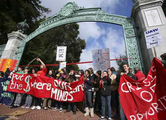 At the Berkeley campus of the University of California, students were angry Thursday about planned budget cuts. Around here, the anger has centered on beer labeling and a soda tax.