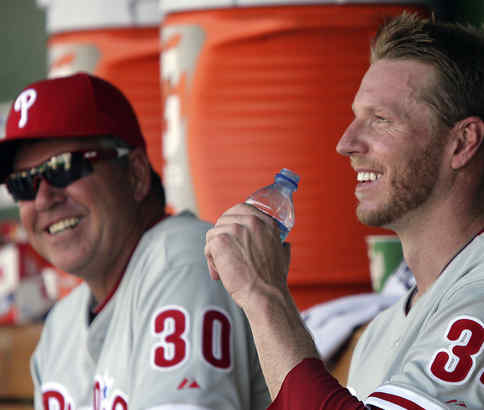 An extra start for Halladay can prompt smiles. (YONG KIM / Staff photographer)