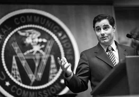 FCC Chairman Julius Genachowski in Washington last month. Whether his agency stands behind the network-neutrality principle will be key in the cable- and phone-industry fight for control of the Internet.