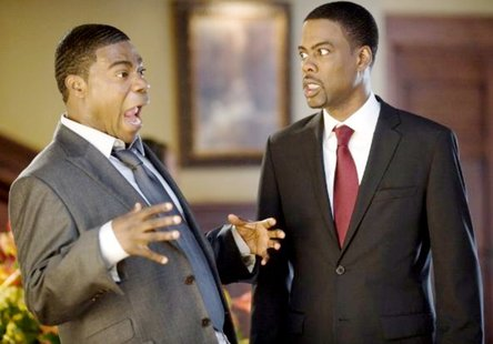 """Tracy Morgan (left) and Chris Rock play a nephew and the dutiful son of the deceased in """"Death at a Funeral."""""""