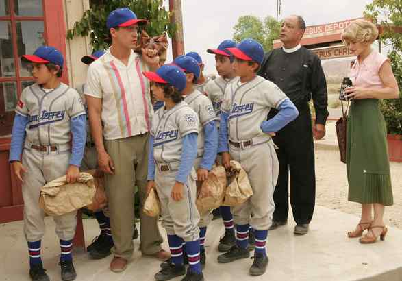 """Clifton Collins Jr. plays the Mexican boys´ coach and Cheech Marin the padre in the inspirata- tional """"The Perfect Game."""""""