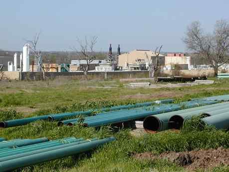 Pipes and a compressor site in Dish, Texas, where residents claim damage to livestock and trees. In Pennsylvania, the PUC is studying the pipeline companies´ power of eminent domain. Page D5.