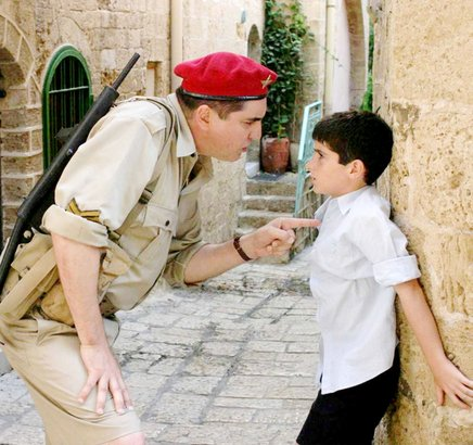 Alfred Molina (left) and Ido Port play a British soldier in Palestine and the Jewish boy he befriends.