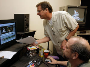 Ray Murray works with video editor Dexter Gresh for editing<br />video screen about Cake Story for TLC at their production room. (Akira Suwa / Staff Photographer)