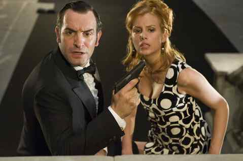 """Jean Dujardin plays the suave but maddeningly dense superspy and Louise Monot is a Mossad agent in """"OSS 117: Lost in Rio."""""""