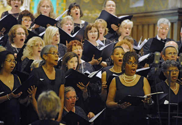 """Choirs from the African Episcopal Church of St. Thomas and the Bucks County Choral Society joined forces for """"Singing Our History"""" concerts."""