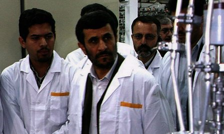 "Iranian President Mahmoud Ahmadinejad in a scene from Lucy Walker´s documentary ""Countdown to Zero,"" a look at the atomic bomb´s origins and the state of nuclear affairs today."