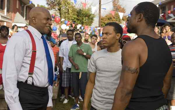 """Lottery Ticket"" stars (from left) Keith David as Sweet Tee; Bow Wow as Kevin Carson, who wins (and loses); Gbenga Akinnagbe as Lorenzo."