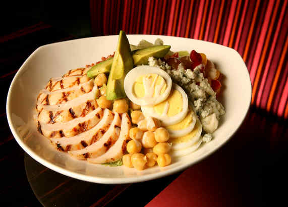 The Cobb salad at 10 Arts, ingredients not only first-rate, but distinct and identifiable should you plan to eat clockwise, or by section.