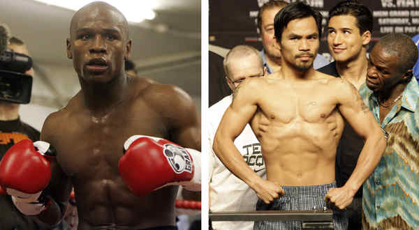 Floyd Mayweather Jr. (left) won´t be Nov. 13 opponent for Manny Pacquiao (right), which makes Penn State-Ohio State easy choice.