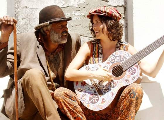 "Ernie Dingo and ""Missy"" Higgins in a scene from ""Bran Nue Dae,"" a film set in 1960s Australia that is based on a stage musical."