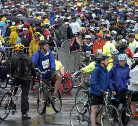 Bikes and bikers galore ...