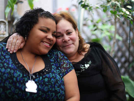 Jalesaa Figueroa and her grandmother Damaris Martinez survive on food stamps and Social Security. Figueroa is raising money to help pay tuition for her senior year at Little Flower.