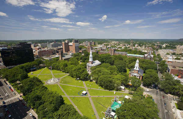 The New Haven green is part of the original city.