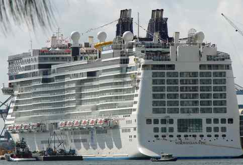 The Norwegian Epic can carry 4,100 passengers. Dining and activity options are a hallmark.