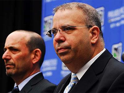 Union president Tom Veit (right) said the team might unveil a third jersey next season. (Sarah J. Glover/Staff file photo)