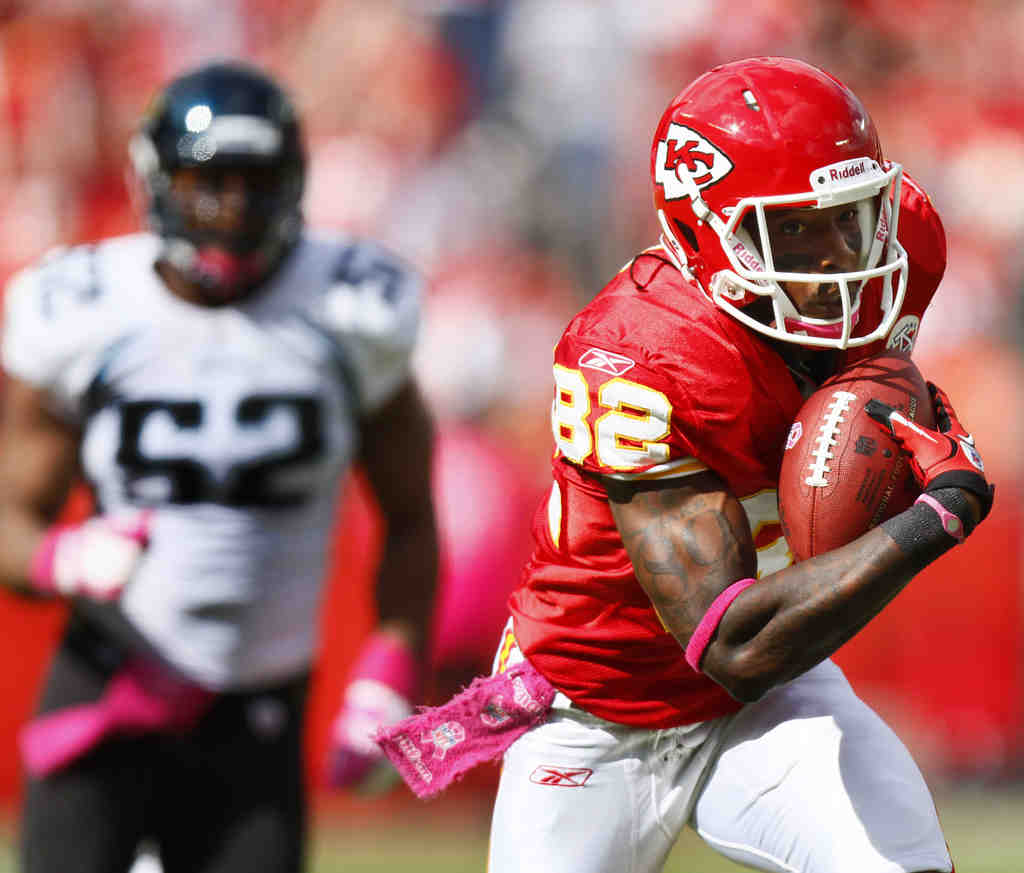 The Chiefs´ Dwayne Bowe has 189 yards and two touchdowns in Kansas City´s last two games.