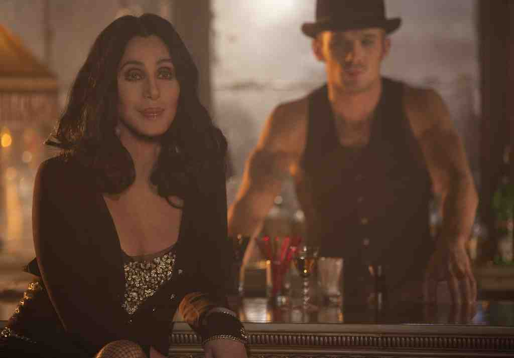 "Cher and Cam Gigandet in ""Burlesque,"" a slim story that strings together razzle-dazzle production numbers but makes poor use of its stars."