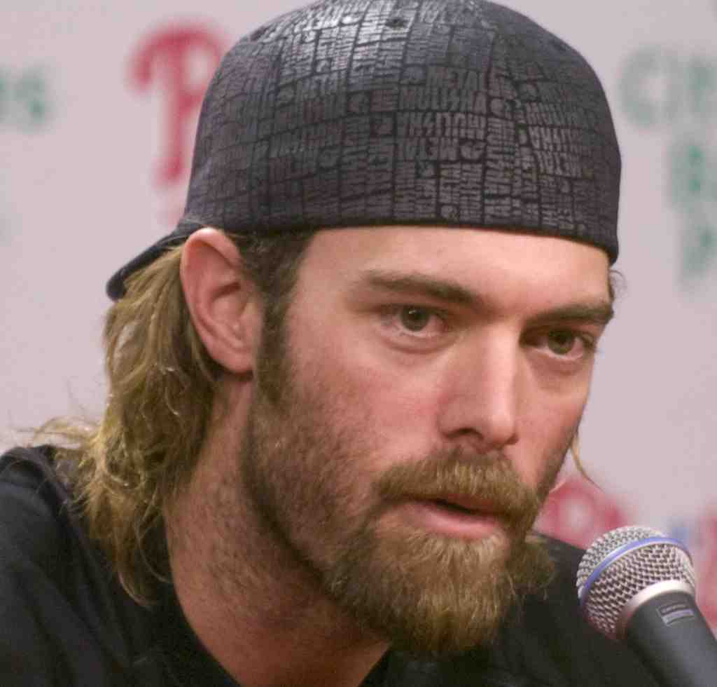 "Jayson Werth speaking at end of his final season with the Phillies, who cannot afford another ""centerpiece."""