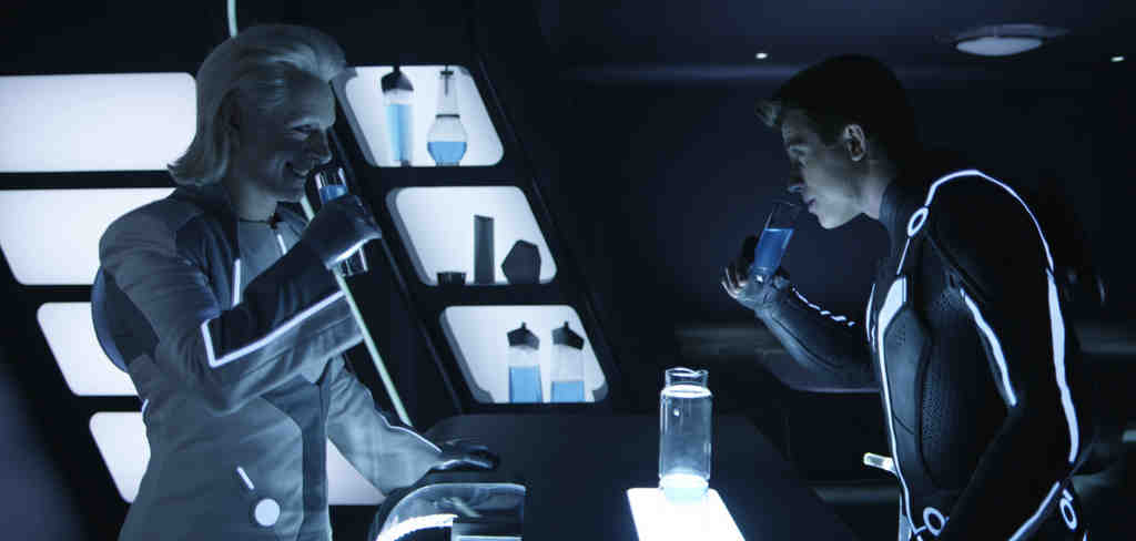 "Michael Sheen (left) and Garrett Hedlund in ""TRON: Legacy,"" which is heavy on flash and light on originality."