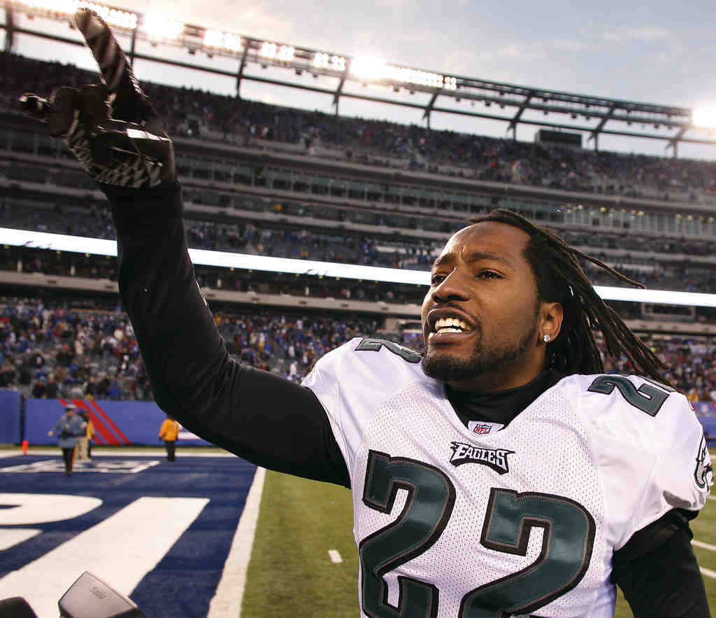 The Eagles´ Asante Samuel has been in the playoffs in every one of his eight NFL seasons. He has seven picks this season.
