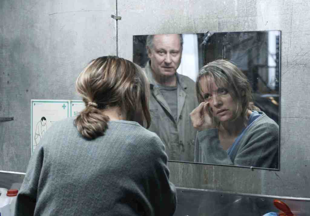 Stellan Skarsgard (with Jannike Kruse) as a passive ex-con; in this deadpan comedy, the less he does, the more things happen.