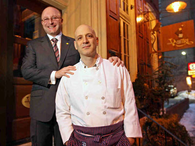 Business partners Jeff Benjamin (left) and Marc Vetri are making some bold decisions on the direction of their Vetri restaurant.