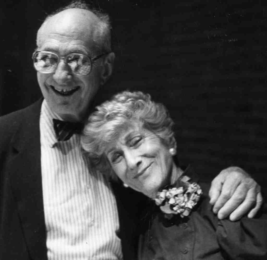 "Valla Amsterdam with husband Gustave, who died in 2001. He handled the finances, but ""she told him what to wear,"" recalls a grandson."