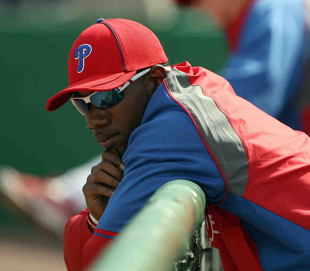 Domonic Brown seems to be changing his batting stance daily.