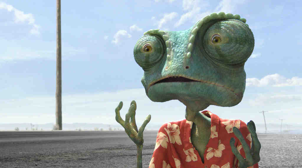 Johnny Depp voices Rango, a Hunter S. Thompson -esque chameleon who arrives in the parched town of Dirt to bring back the water.