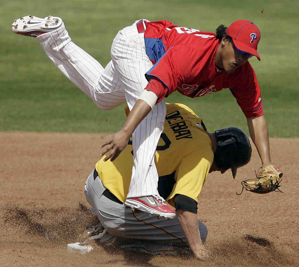 Of the six Phillies to start at second base this spring, Delwyn Young leads with three games.