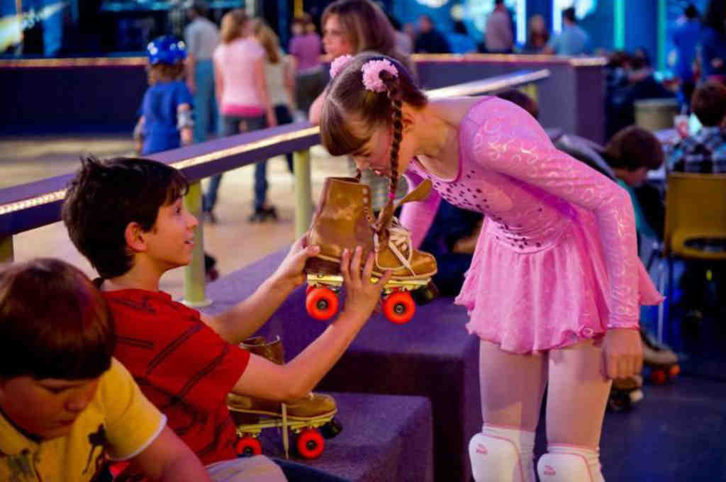 The title character Greg (Zachary Gordon) succeeds in getting one of his nemeses, Patty (Laine MacNeil), to take a whiff of his roller skates.