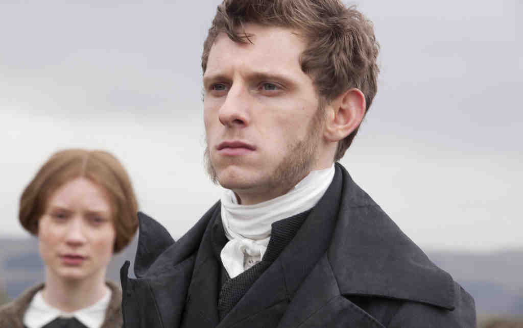 Jamie Bell and Mia Wasikowska as Jane Eyre in the romantic drama; this version starts Jane´s story in the middle, as she flees gloomy Thornfield.