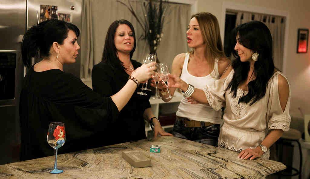 """The """"Mob Wives"""" from left: Renee Graziano, Karen Gravano, Drita D´avanzo and Carla Facciolo."""