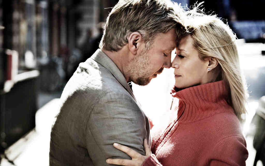 """In a Better World,"" starring Mikael Persbrandt as Anton and Trine Dyrholm as Marianne, triggers a fight-or-flight response in viewers, too."