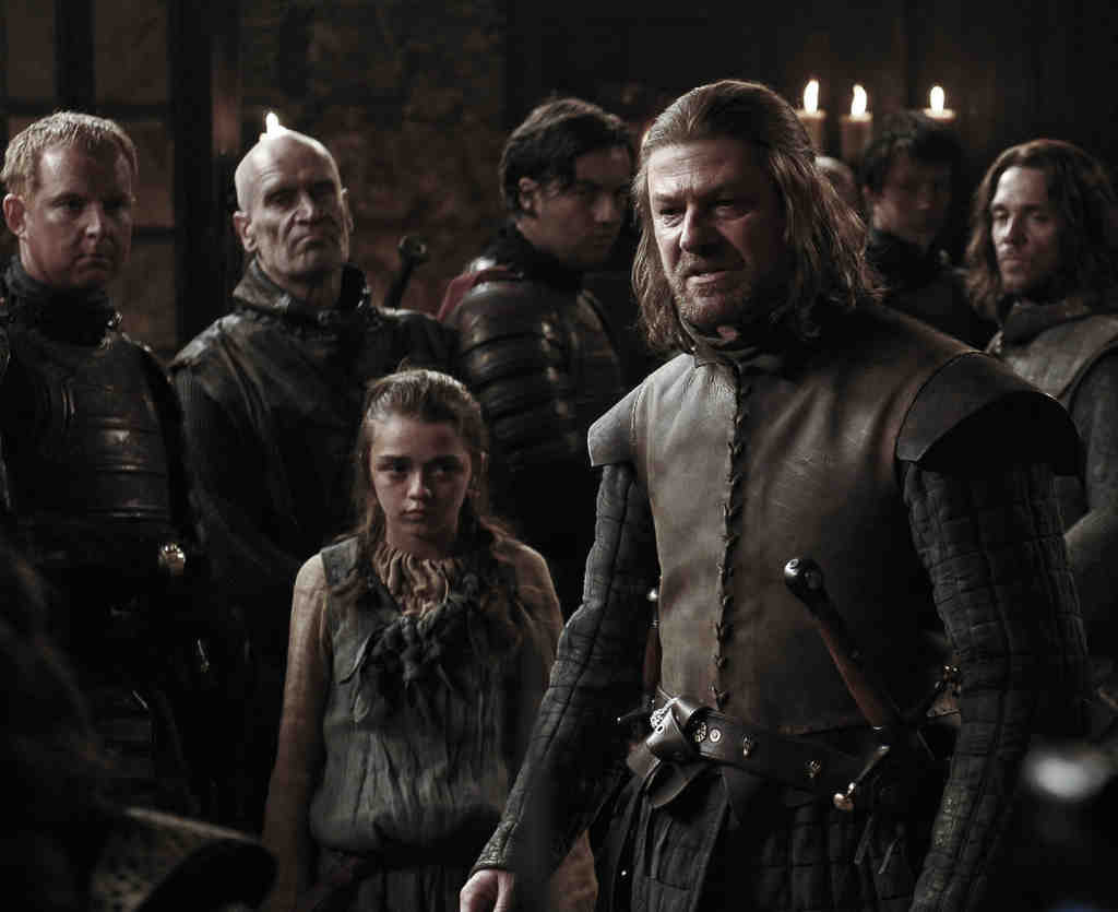 """In """"Game of Thrones,"""" Maisie Williams and Sean Bean as Ned, off to King´s Landing to become the king´s right-hand man; right, Lena Headey as the king´s wife. The network hopes vast armies of new viewers will buy subscriptions to justify the production´s vast costs."""