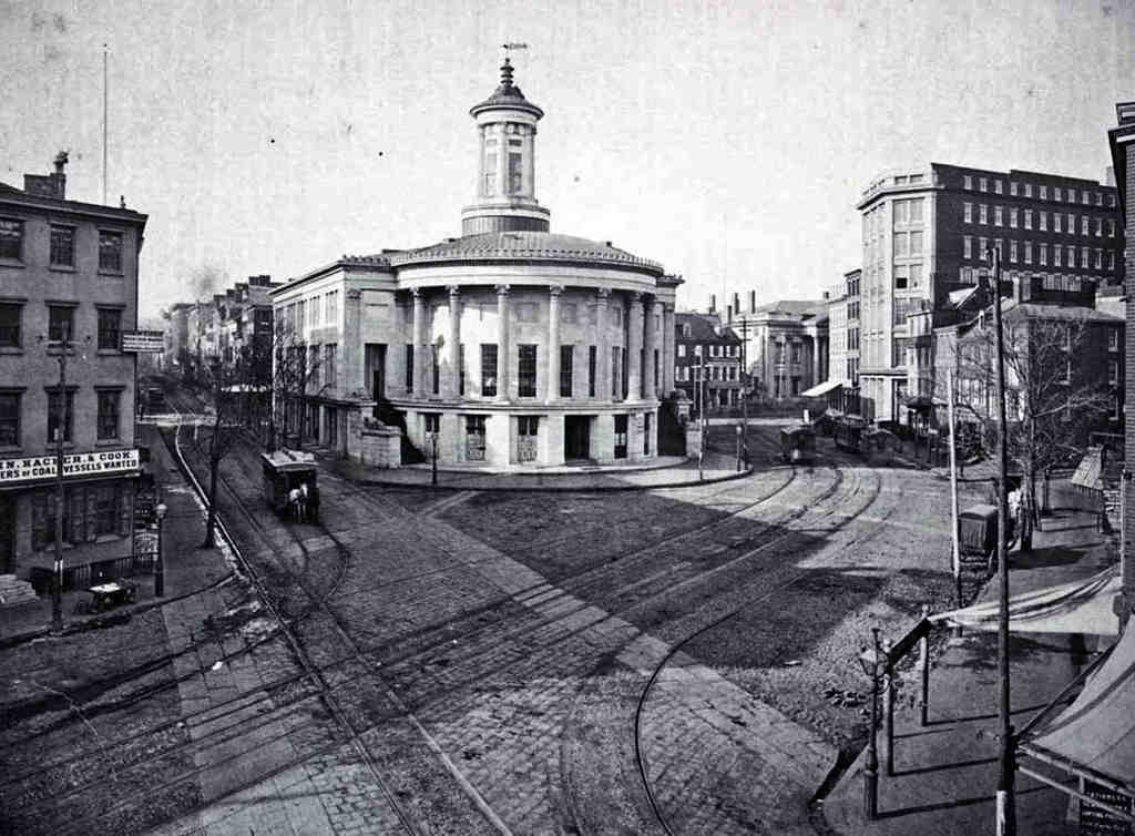"""The Merchant´s Exchange building , at Dock and Walnut Streets, in """"Philadelphia: The Great Experiment."""" The documentary looks at Philadelphia´s history from 1865 to 1876."""