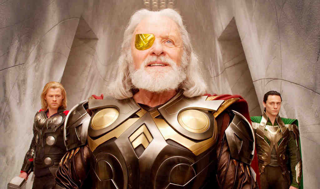Chris Hemsworth plays the Norse god Thor, who is stripped of his powers by his father, Odin, and banished to Earth.
