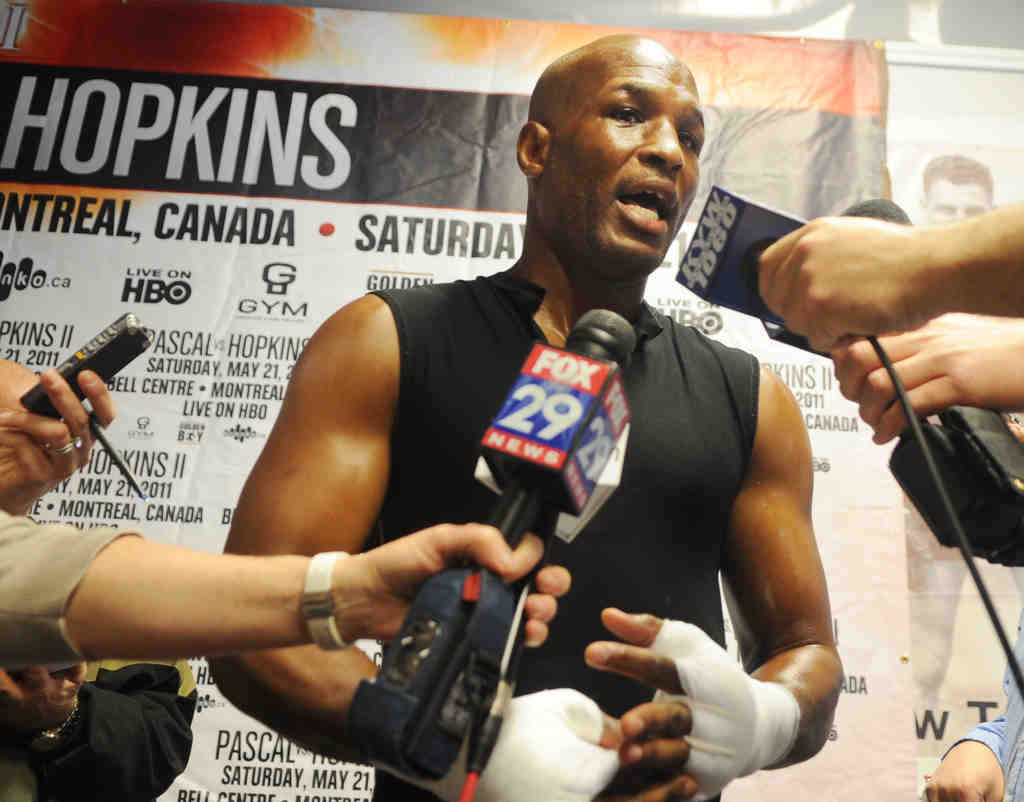 Bernard Hopkins will take his cue from the Broad Street Bullies, wearing a Bobby Clarke jersey to Canada for his May 21 bout.