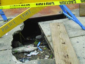 That´s a big sinkhole.