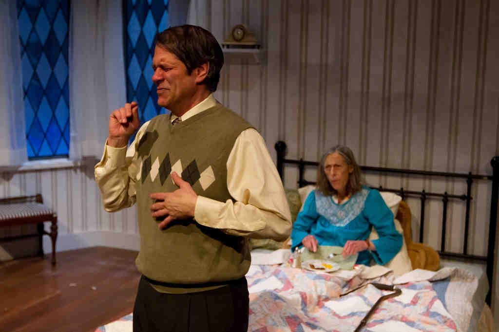 """Leonard C. Haas and Ceal Phelan are skillful actors defeated by the script in the Lantern Theater Company´s """"Vigil."""""""