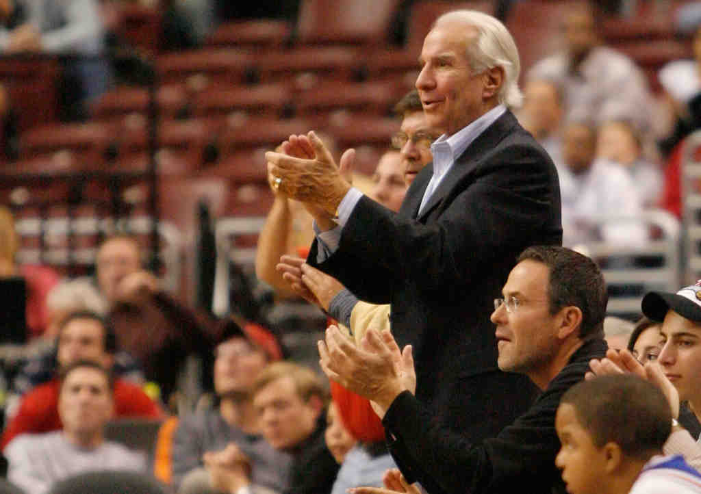 Empty seats were in abundance at the Wachovia Center in 2006 as Comcast-Spectacor´s Ed Snider cheered for his team.
