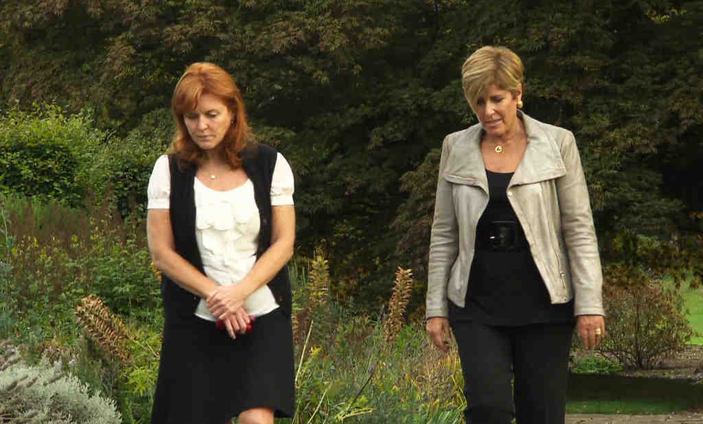 """On """"Finding Sarah,"""" Sarah Ferguson walks with financial guru Suze Orman. """"I was surprised at how lost she really was,"""" Orman says of the Duchess of York. Ferguson also talks with Dr. Phil on the show."""