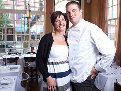 Chef Josh Lawler and wife-partner Colleen Lawler recently arrived from New York, where he cooked at Blue Hill at Stone Barns. (Ed Hille / Staff Photographer)